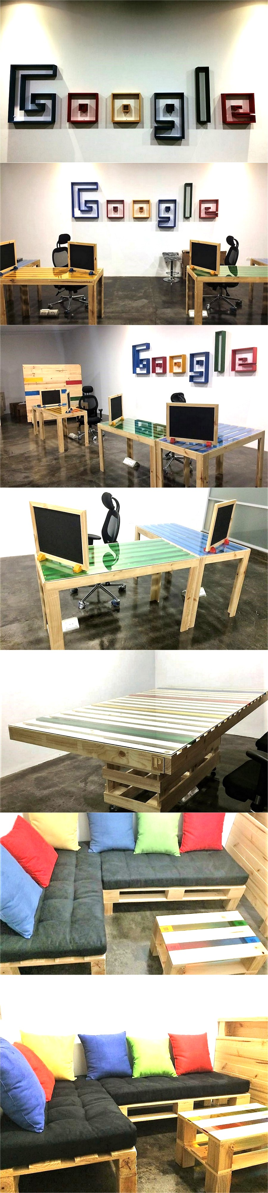 Office Furniture Made With Pallets