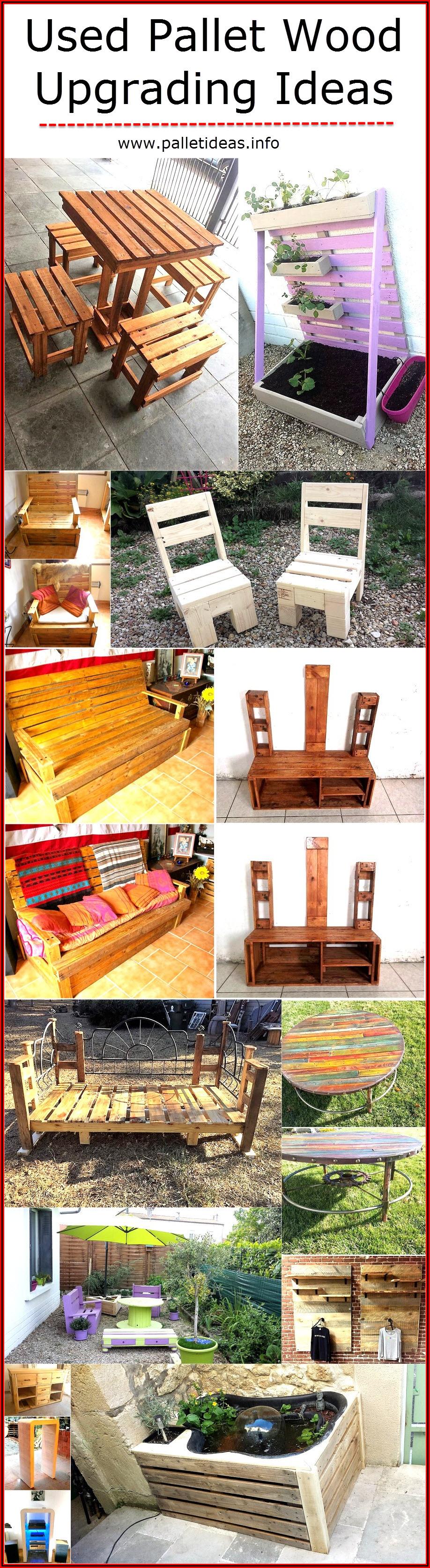 Used Pallet Wood Upgrading Ideas