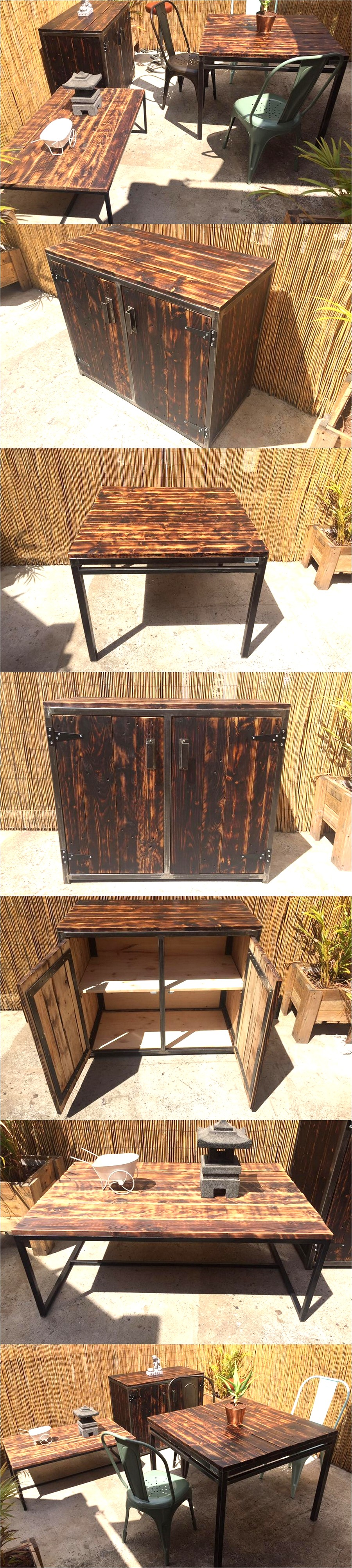 reclaimed-wood-pallet-outdoor-furniture-set