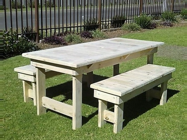 Garden Furniture From Wooden Pallets wood pallet outdoor furniture set | pallet ideas