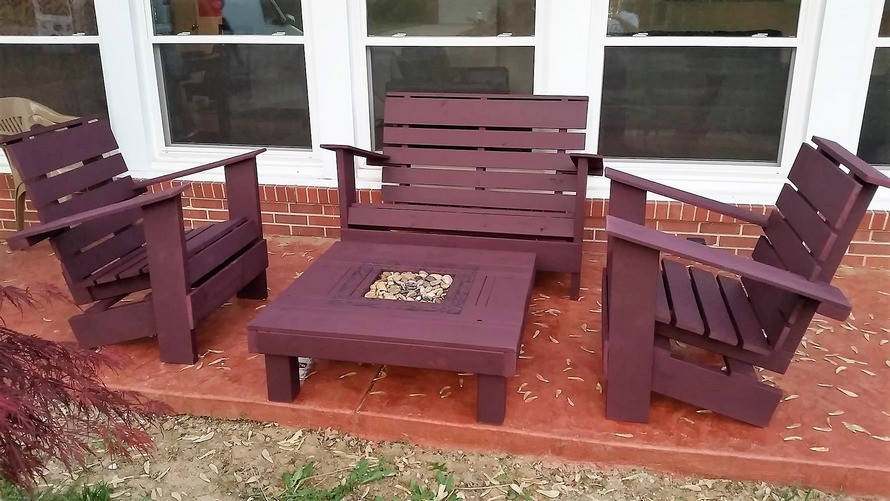 Wood Pallet Outdoor Furniture Plan