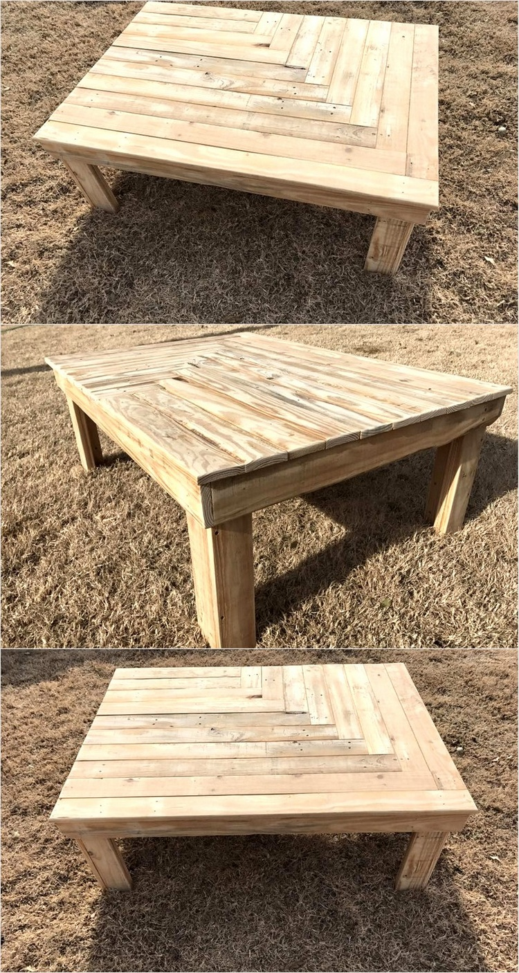 Diy ideas for repurposed pallet wood pallet ideas pallet wood coffee table geotapseo Image collections