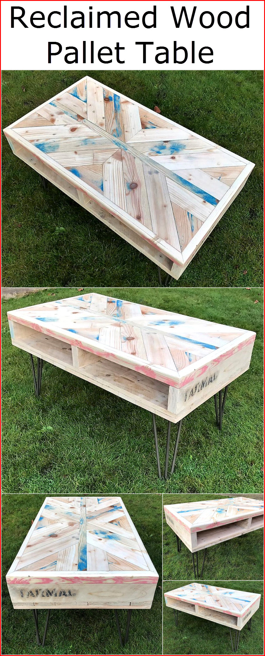 reclaimed wood pallet bench. Reclaimed-wood-pallet-table Reclaimed Wood Pallet Bench