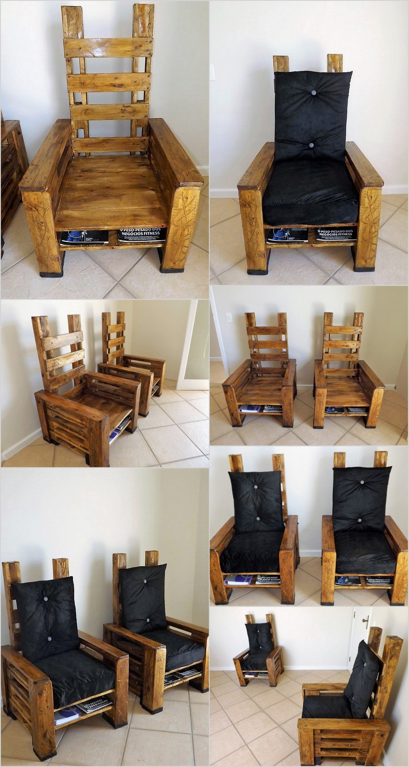 recycled-pallet-chairs-with-books-storage