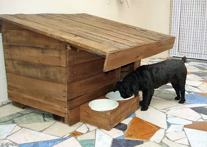 Wooden Pallet Made Dog Houses