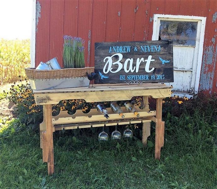 pallet-made-garden-bar