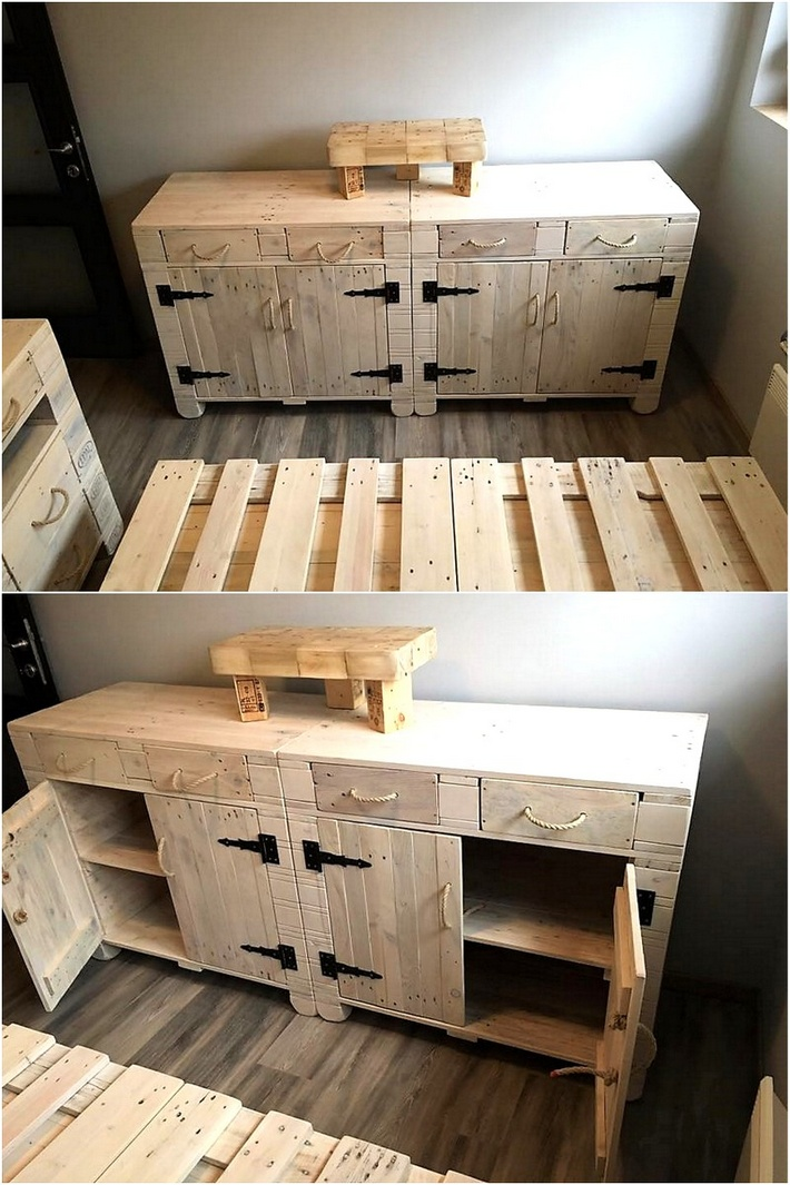 Cheap home furnishing with recycled pallets pallet ideas - Ideas para palets ...
