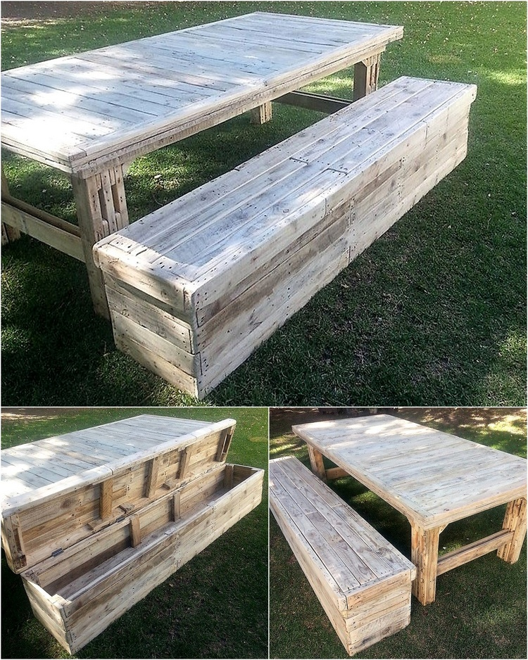1 pallet furniture with bench storage