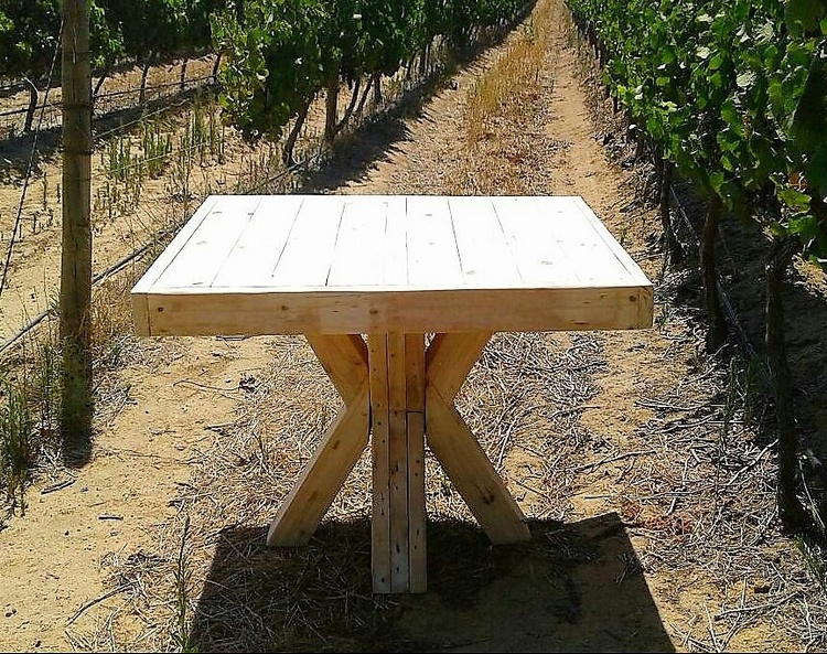 1 pallet table idea