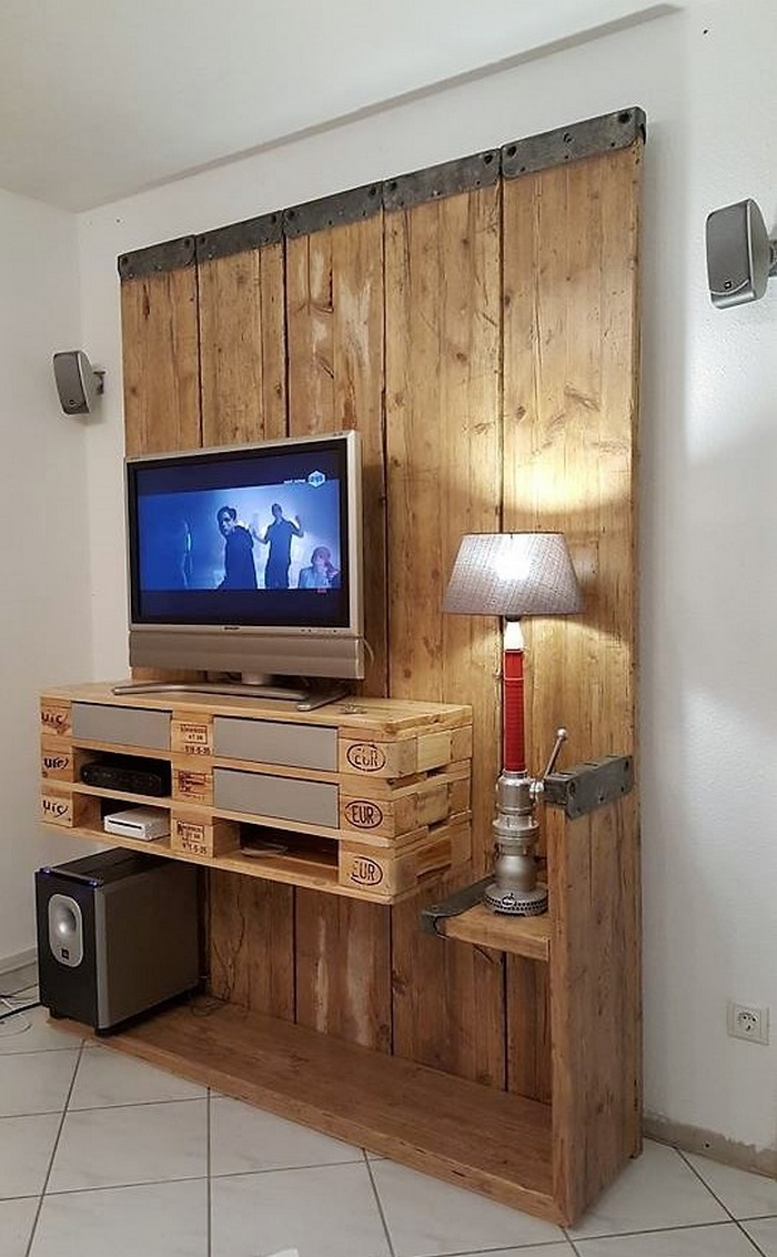 Tv Stand Designs On Wall : Awesome recycling plans for wooden pallets pallet ideas