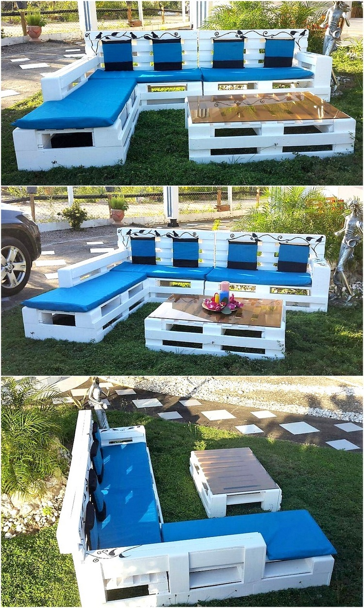 2 garden furniture made with pallets