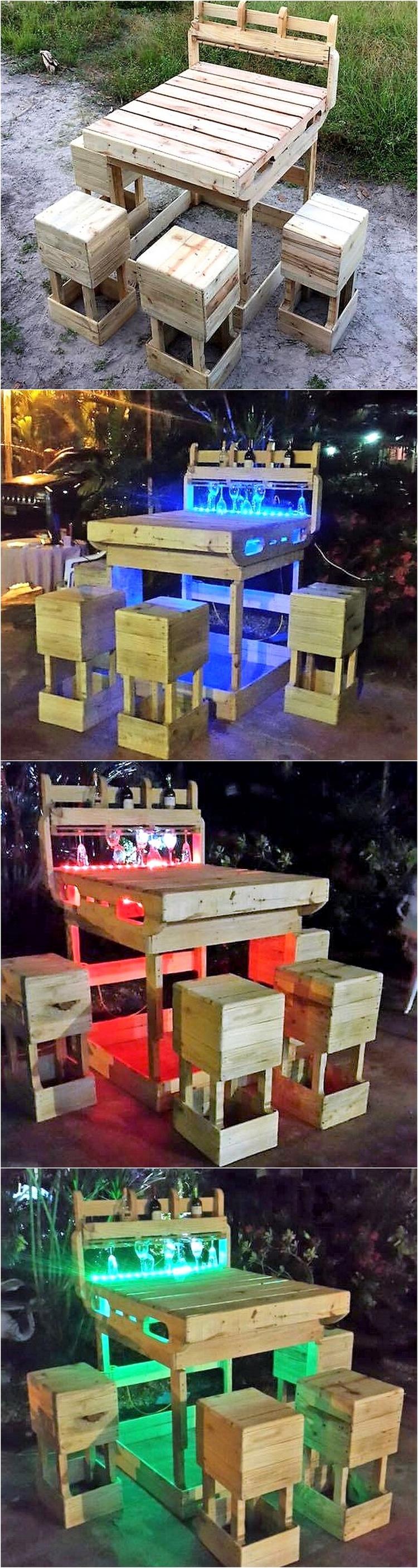 2 - pallet patio bar plan