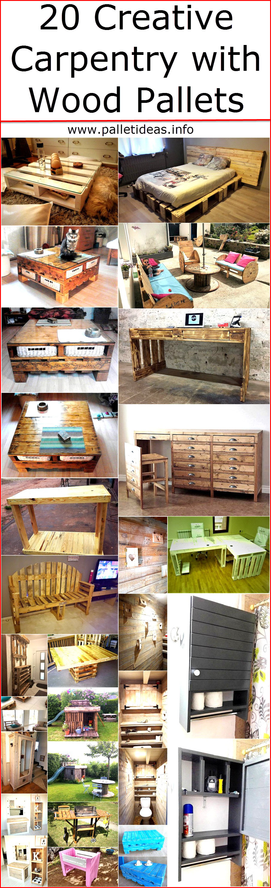 20 Creative Carpentry with Wood Pallets