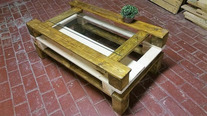 3 wood pallet table