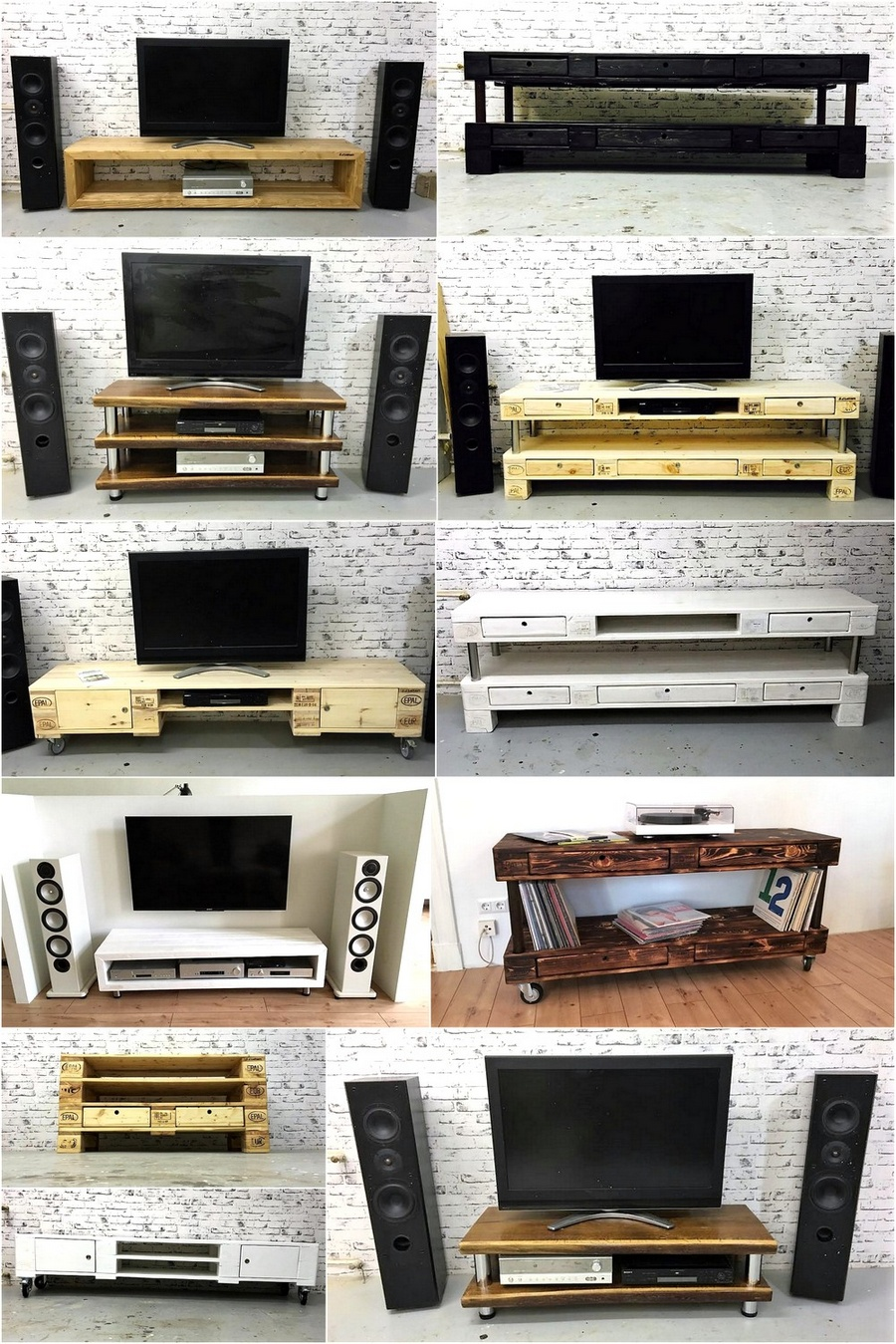Different Ideas for Pallet TV Stands