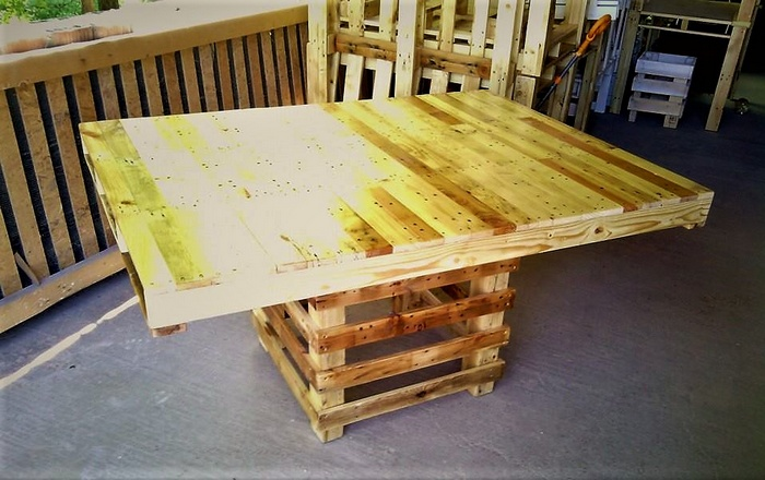 namestajodpaletapalettfurniture - wooden pallet table