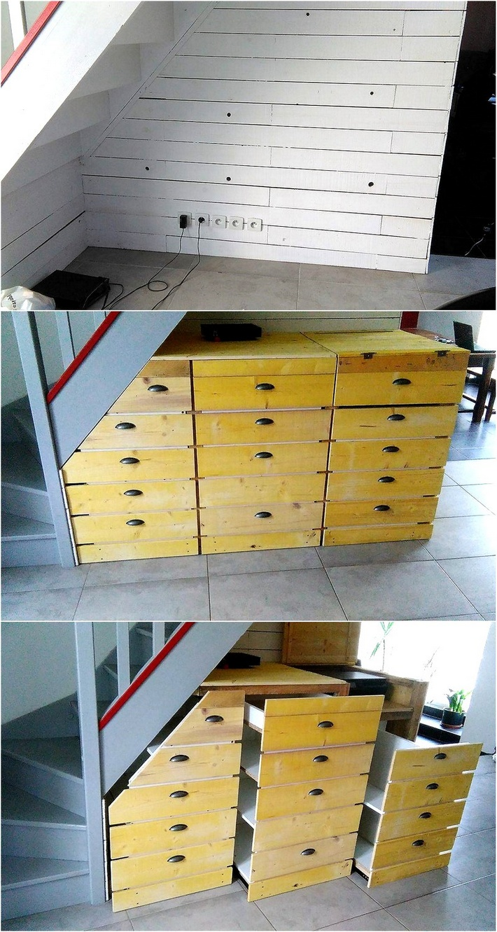 pallet-chest-of-drawers-under-stairs