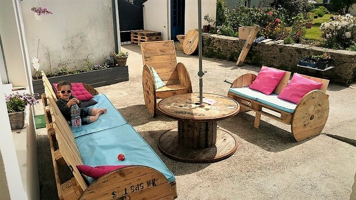 pallet patio lounge furniture