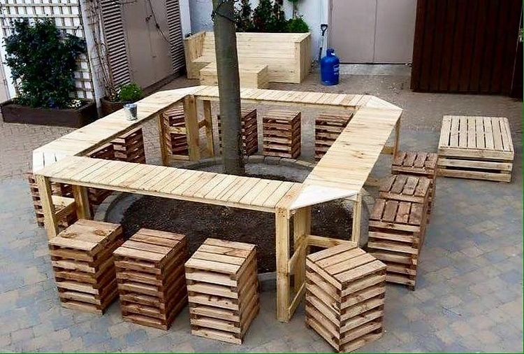 pallet wood furniture idea