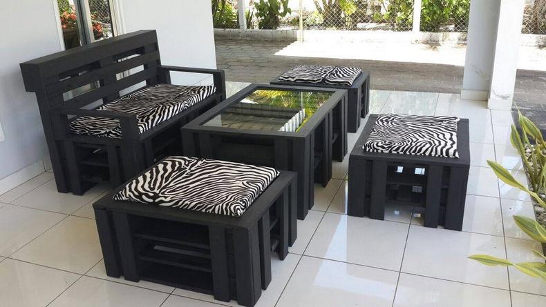 pallet wooden furniture idea