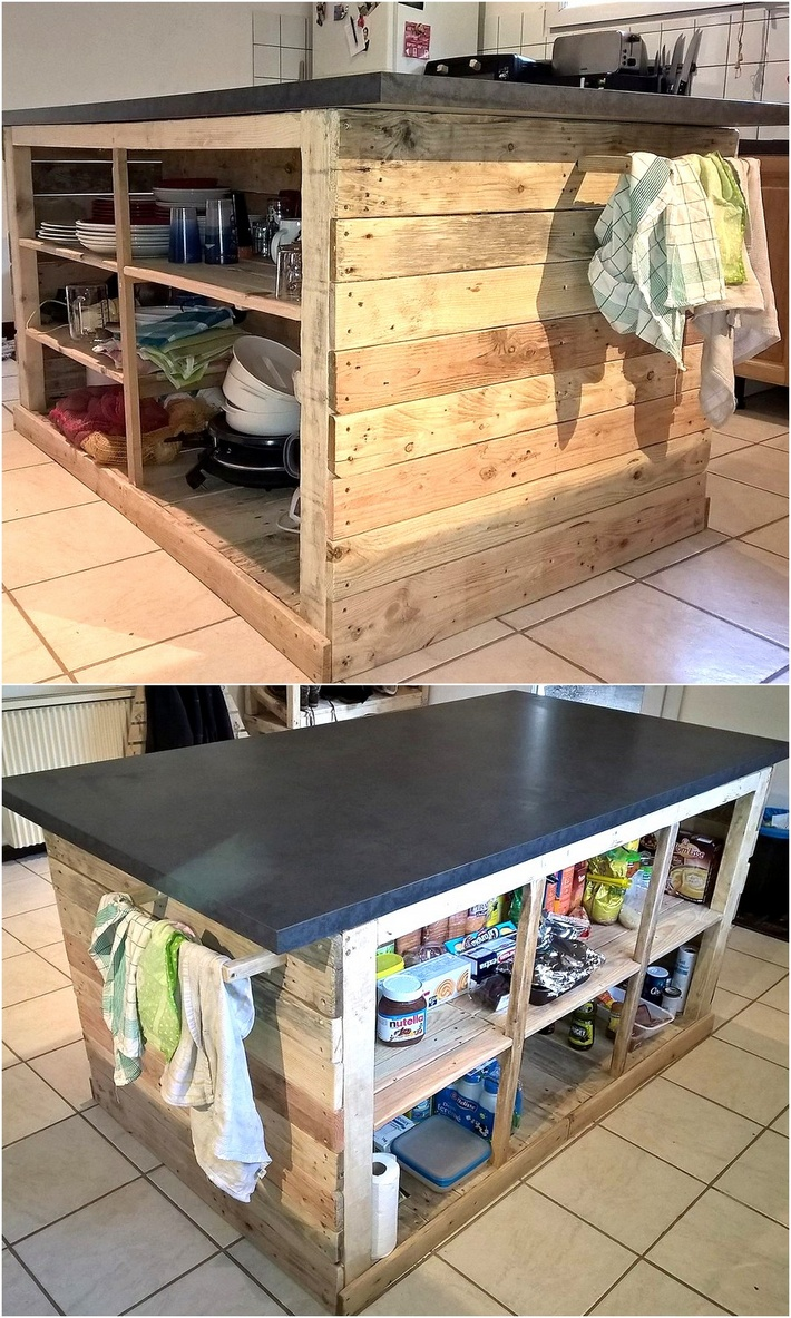 pallets Central Kitchen Island