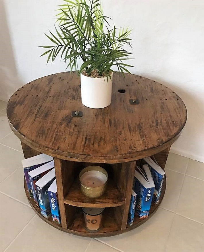 pallets cable reel coffee table