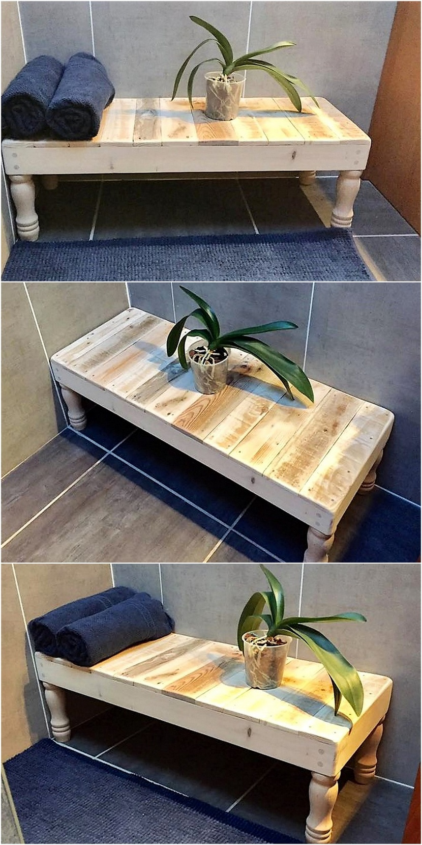 reclaimed pallets wood bench