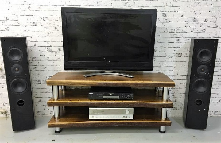 recycled wood pallet tv stand