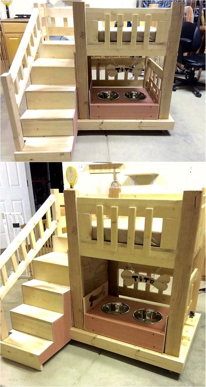 wood pallet dog bed house