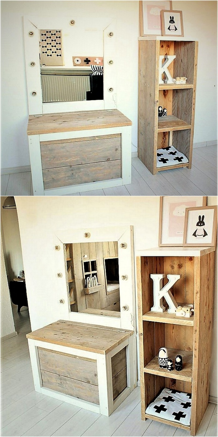wooden pallet dressing table