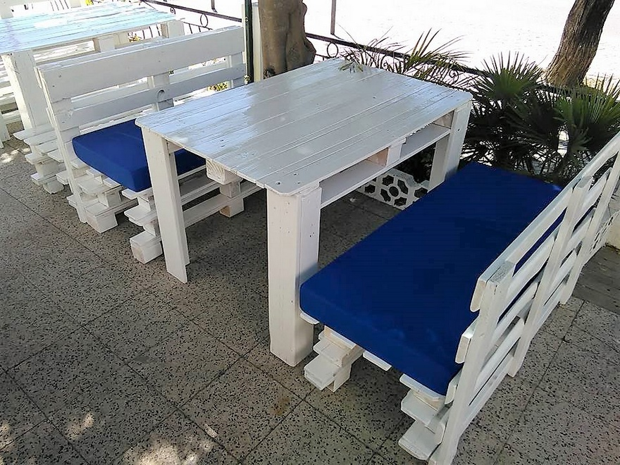 Pallets Wood Outdoor Furniture for Restaurant