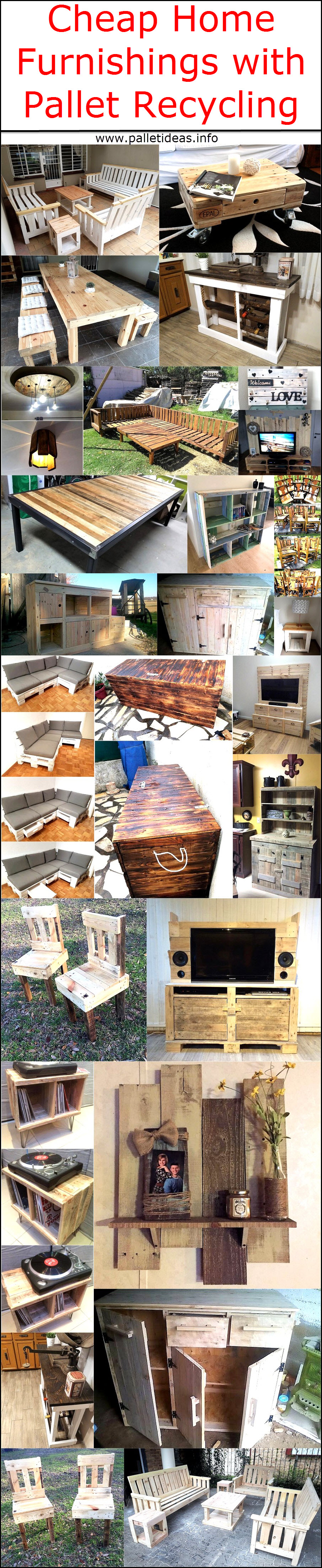 Cheap Home Furnishings with Pallet Recycling