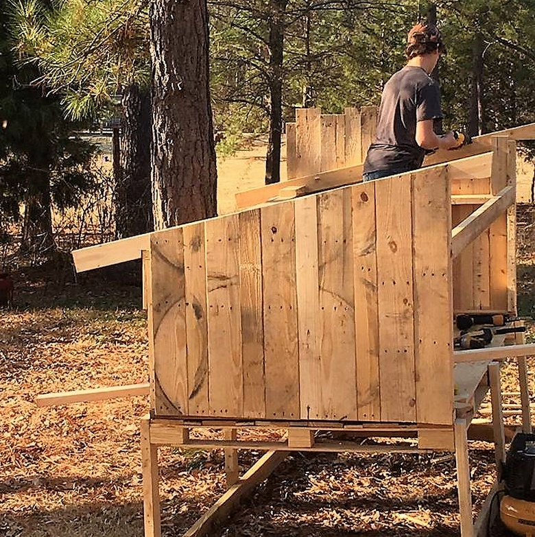 diy recycled pallet chicken coop