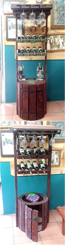 pallet bottle rack plan