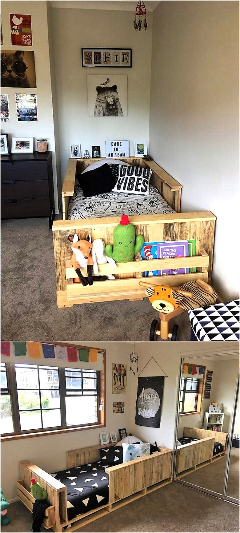 pallet bunk bed for kids