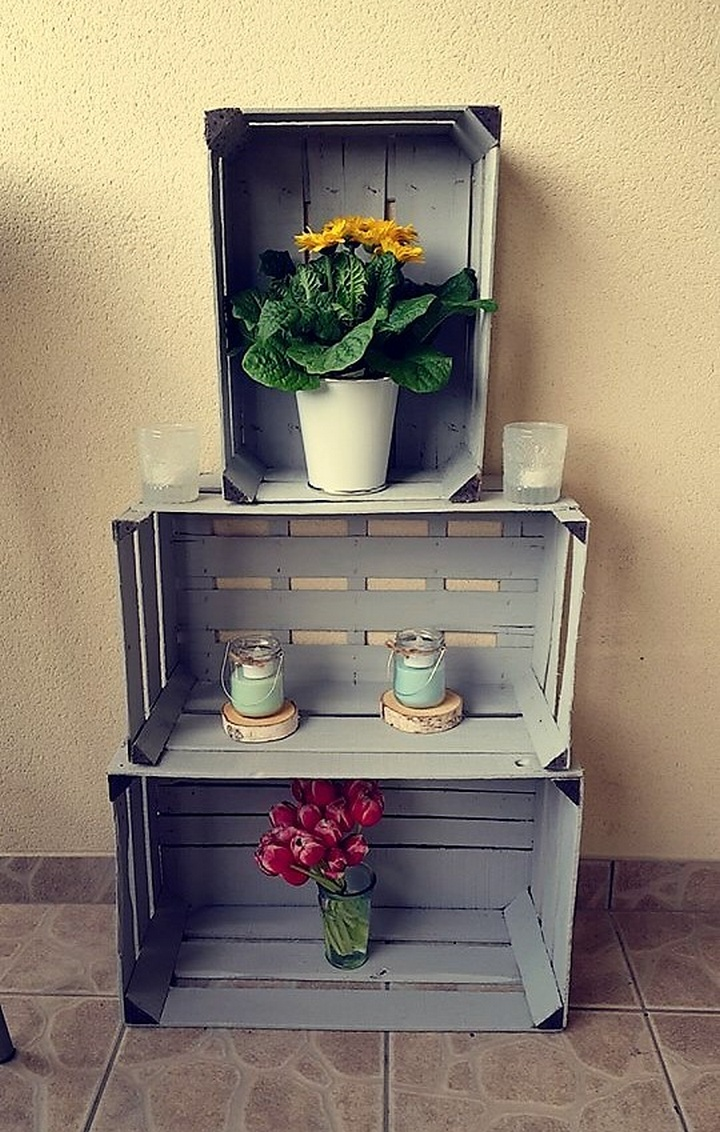 pallet fruit crates decor shelving