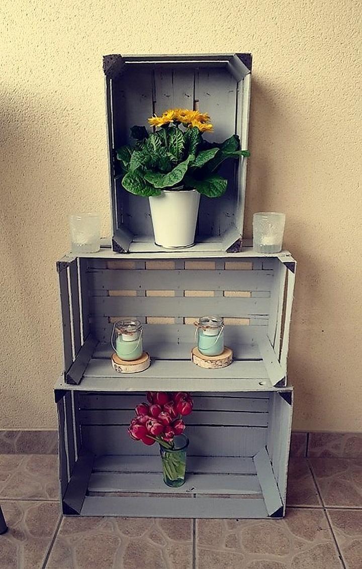 pallet fruit crates decor shelving
