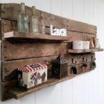 Beautiful Rustic Pallet Shelf / Key Rack Combo