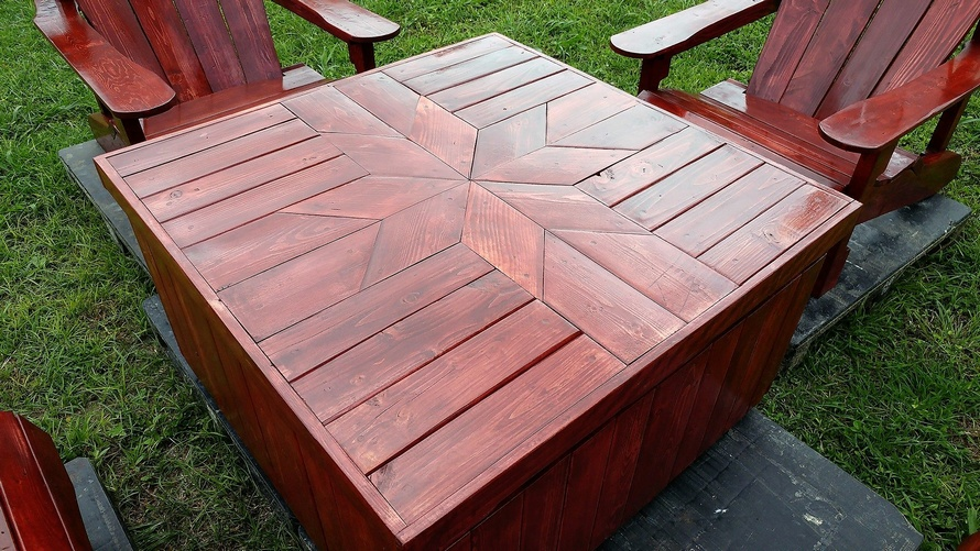 pallets adirondack patio table