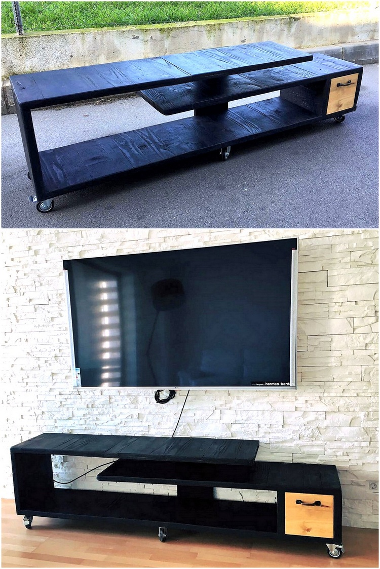 pallets media console
