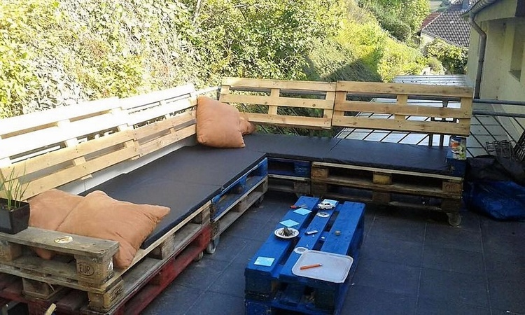 pallets patio lounge furniture