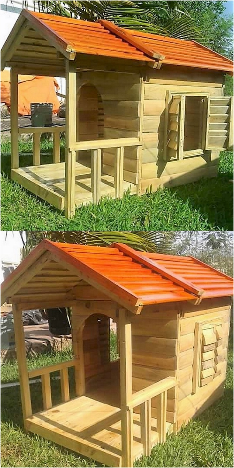 pallets playhouse for kids