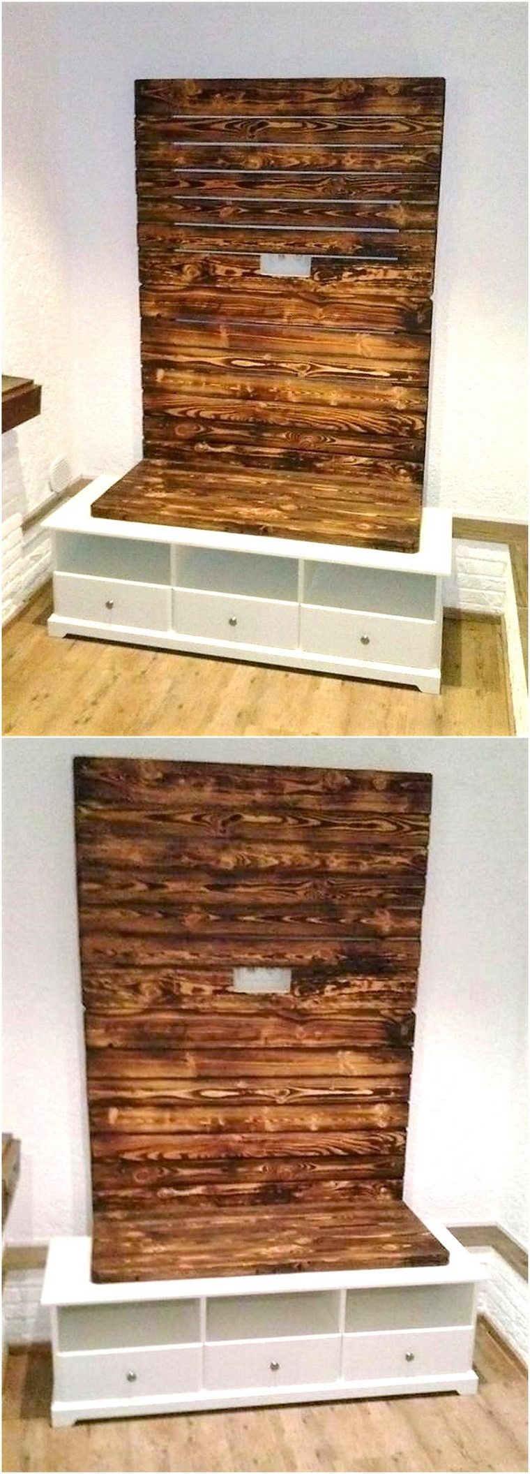 pallets tv wall stand