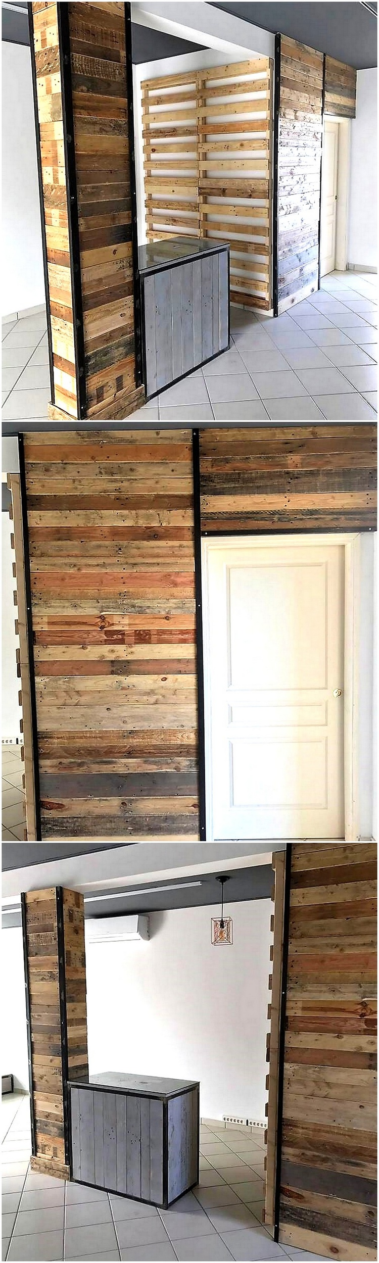 recycled pallets wall cladding