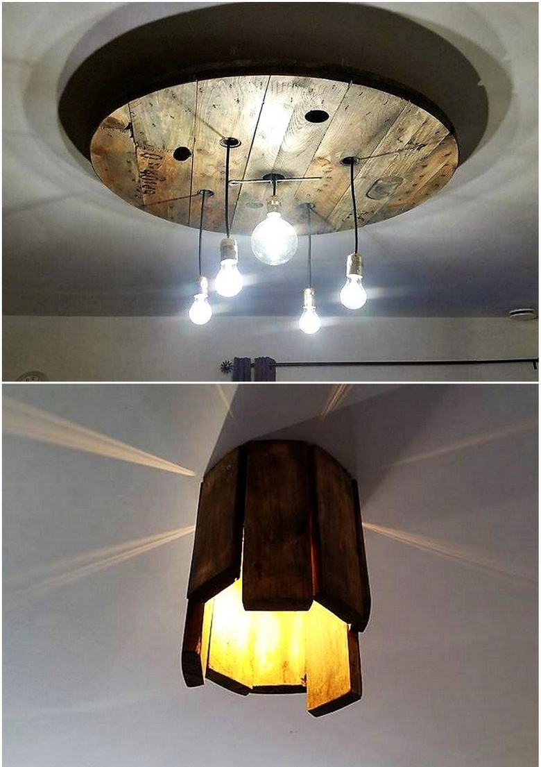 recycling pallet lighting ideas