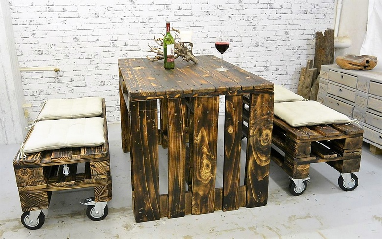 rustic pallet furniture plan