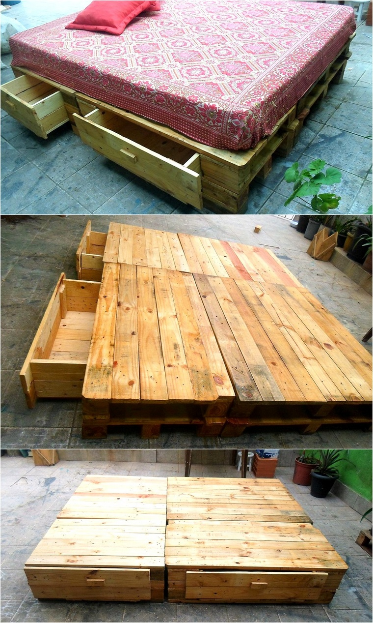 upcycled pallet bed plan