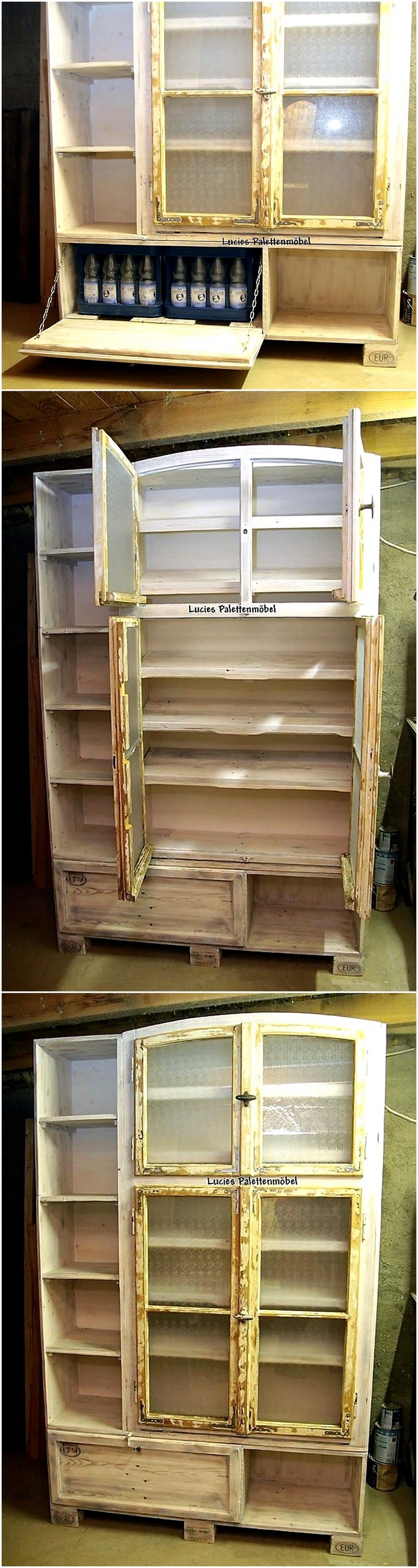 wood pallet wardrobe plan
