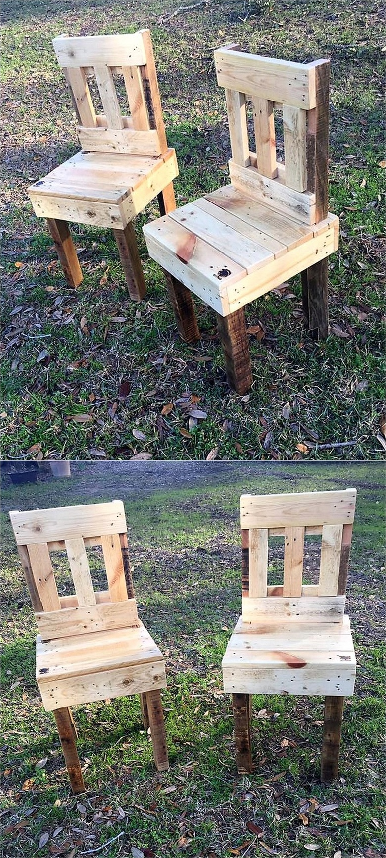 wood pallets garden chairs