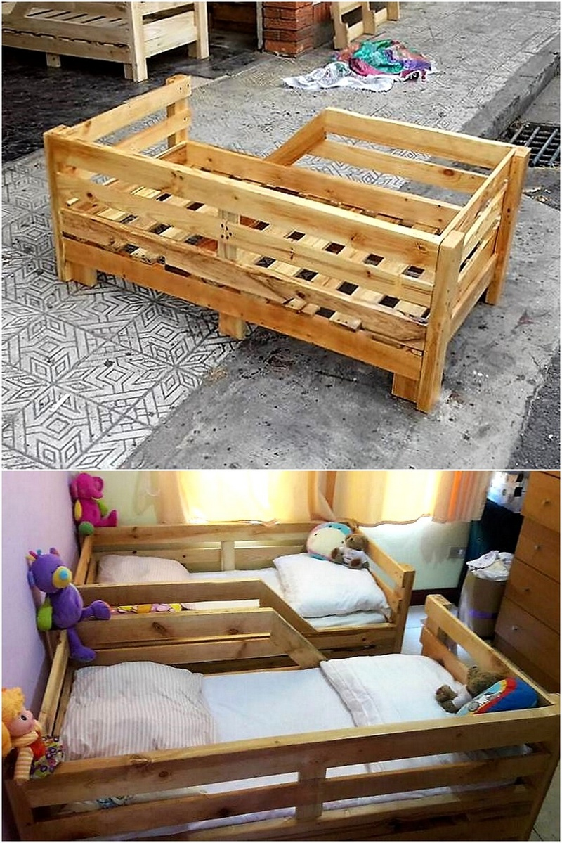 wood pallets toddler bed